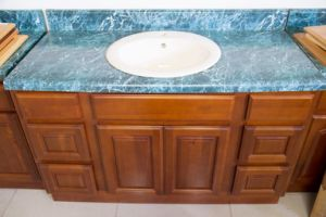 American Style Cherry Vanity Kitchen Cabinet pictures & photos