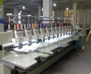 High Effciency Multi-Head Plain Embroidery Machine pictures & photos