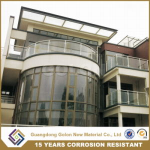 New Aluminium Handrail Glass Balustrade Balcony Railing Designs of Glass Railing pictures & photos