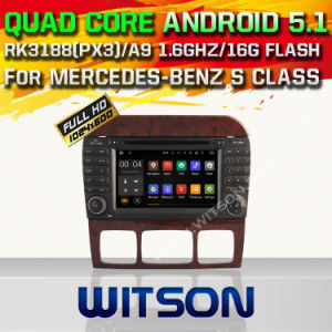 Witson Android 5.1 Car DVD GPS for Mercedes-Benz S Class with Chipset 1080P 16g ROM WiFi 3G Internet DVR Support (A5518) pictures & photos