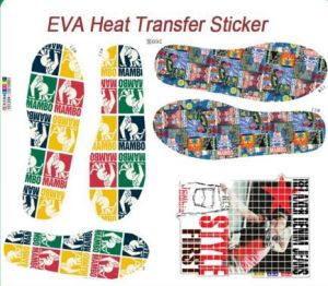 Heat Transfer Printings for EVA Slippers Transfer Stickers pictures & photos