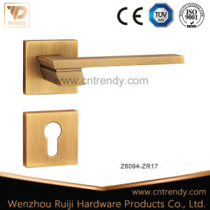 Wing Design Security Door Lever Handle with Lock Cover (Z6121-ZR03) pictures & photos