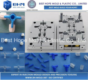 High Precision Plastic Mold for Three-Way Channel pictures & photos