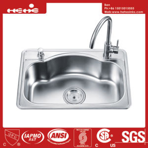 """26-3/8""""X17-5/16"""" Stainless Steel Top Mount Single Bowl Kitchen Sink pictures & photos"""