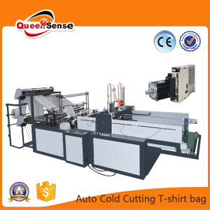 Eco Friendly Cold Cutting T-Shirt Plastic Bag Making Machine pictures & photos