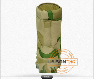 Tactical Boots of Waterproof Nylon and Cowhide Leather/Anti-Slip and Anti-Abrasion/High Performance pictures & photos