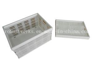 Portable Folding Plastic Basket (FB004W) pictures & photos