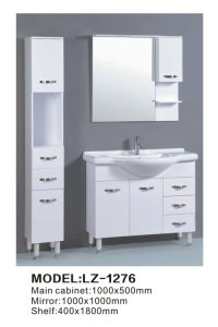 Floor Standing Curve European Solid Wooden Bathroom Vanity pictures & photos