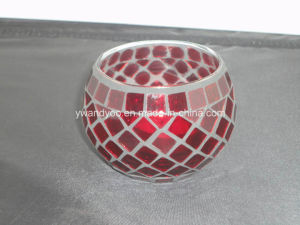 Red Mosaic Glass Candle Holder pictures & photos