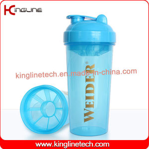 700ml Plastic Protein Shaker Bottle with Filter (KL-7033) pictures & photos