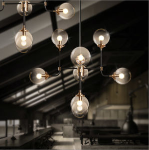 Hotel or Bar Counter Loft Style Glass Chandelier Pendant Lamp pictures & photos