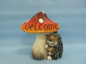 Mushroom Hedgehog Shape Ceramic Crafts (LOE2533-C18) pictures & photos