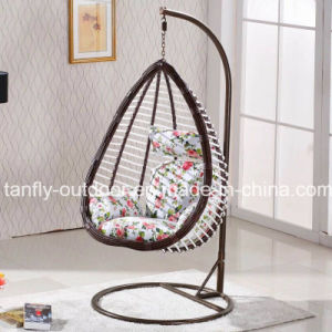 Synthetic Rattan Egg Shaped Indoor and Patio Swing Chair