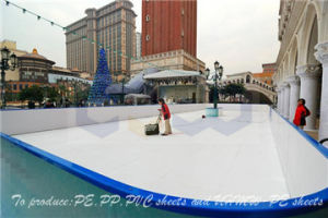 Customized UHMW-PE Synthetic Ice Rink Board