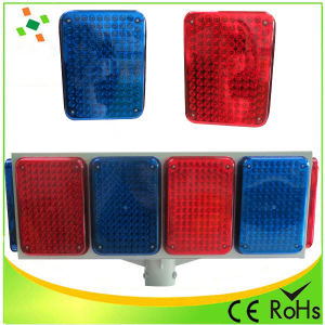 Big Solar LED Flash Warning Light/Traffic Light pictures & photos