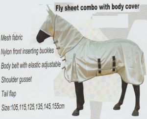Horse Gear Fly Sheet Combo with Body Cover & Mesh Fabric