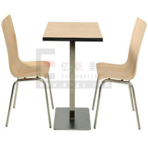 China Supplier Restaurant Furniture Four Seaters Dining Table & Chairs pictures & photos