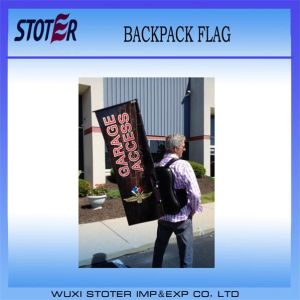 High Quality Walking Rectangle Backpack Flag/Banner