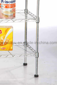 4-Shelf Wire Shelving Rack, OEM / ODM Wire Shelving Unit Storage Rack pictures & photos