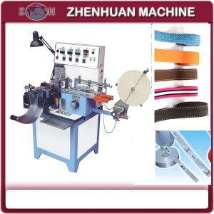 Cloth Tape Cutting Machine for Tape with Label or Trademark pictures & photos