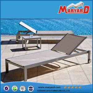 Outdoor Patio Furniture Stainless Steel Folding Leisure Sling Sun Lounger pictures & photos