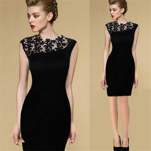 Sexy Women Crochet Bodycon Cocktail Mother of Bride Dress pictures & photos