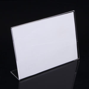 Acrylic Table Card Holder, Acrylic Menu Holder, Acrylis Sign, Countertop Price Tag Holder pictures & photos