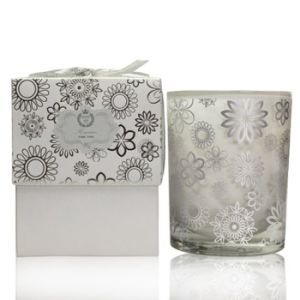 Scented Soy Printed Glass Candle in Two-Parts Gift Box