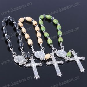 High Quality Oval Wooden Beads Rosary Bracelet