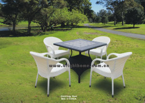 Patio Garden Aluminum PE Rattan Dining Chairs and Table pictures & photos