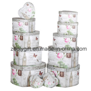 12 Set of Flower Heart-Shape Paper Gift Storage Box Jewellry Box pictures & photos