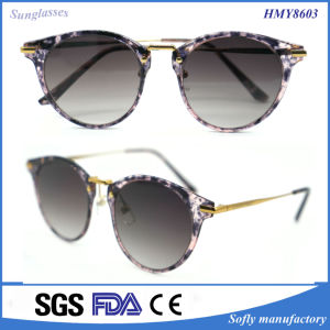 Lady′s New Fashion Designed Acetate & Metal Polarized Sunglasses (HMY8603) pictures & photos