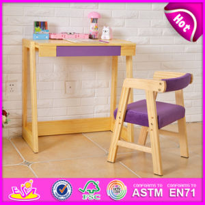 2015 Kids Study Table Chair Set, New Children Table and Chair, School Wooden Table and Chair for Kids W08g156c pictures & photos