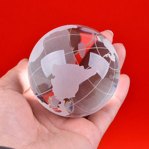 Crystal Glass Globe Ball with Map Sandblasting pictures & photos