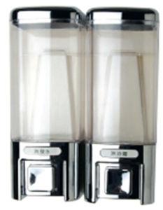 Elegant 480ml*2 Silver Plastic Liquid Hotel Soap Dispenser