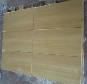 2016 Hot Sale Cantera Slab and Sandstone Tiles Yellow Wooden Sandstones pictures & photos