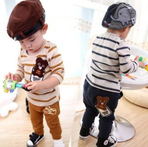 2015 Lovely Striped Cotton Suit for Boys Children Apparel Manufacturer pictures & photos