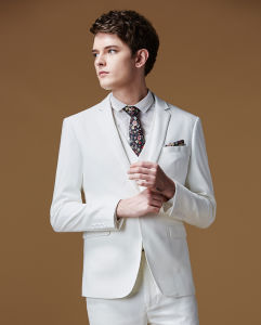 White Made to Measure Mens Clothing Wedding Suit for Men pictures & photos