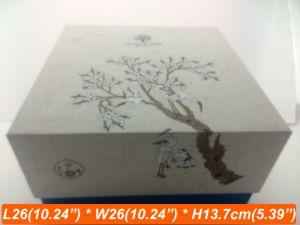 Linen Rectangle Box Full Color Printing Provide Custom Design