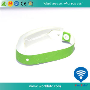 144byte Ntag213 PVC One Time RFID Disposable Wristbands pictures & photos