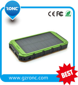 Portable 5000mAh Solar Power Bank Charger for Mobile Phone pictures & photos