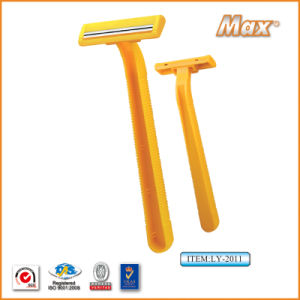 Platinum Coated Stainless Steel Twin Blade Disposable Razor (LY-2011) pictures & photos
