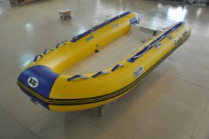 Rib Fiberglass Hull PVC Inflatable Boat pictures & photos