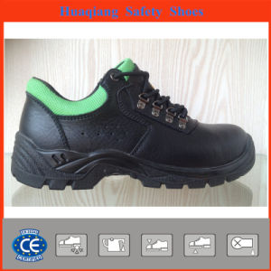 Split Embossed Leather Safety Shoes with Mesh Lining (HQ05060) pictures & photos