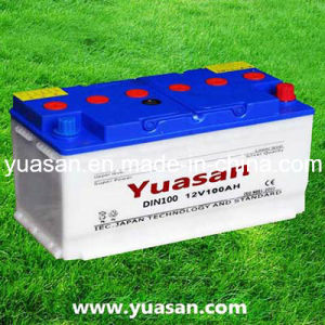 Excellent 12V100ah DIN Dry Charged Auto Battery--DIN100