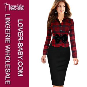 Business Office Career Apparel Dress for Women (L36070-1) pictures & photos