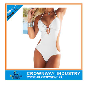 Pure White Sexy Brazilian One Piece Swimwear for Women pictures & photos