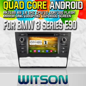 Witson S160 Car DVD GPS Player for BMW 3 Series E90/E91/E92/E93 2005-2012 with Rk3188 Quad Core HD 1024X600 Screen 16GB Flash 1080P WiFi 3G Front DVR (W2-M095) pictures & photos