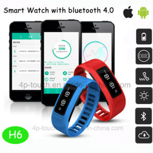Waterproof Wristband Bluetooth 4.0 Smart Bracelet with Fitness Tracker H6 pictures & photos