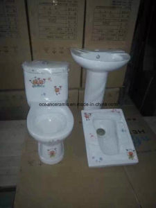 823 Kids Water Closet, Cheap One Piece Child Ceramic Toilet pictures & photos